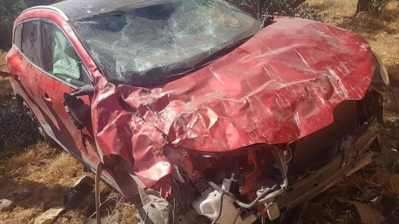 عهد التميمي تتعرض الى حادث مرور خطير (صور)
