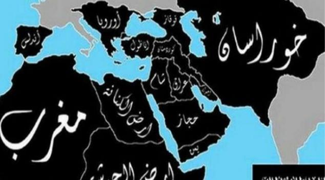 الأخبـــار  : داعش يضع خريطة دولة الخلافة 2020